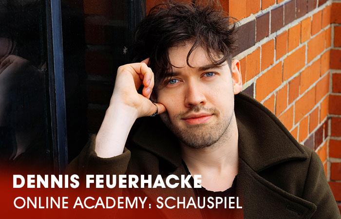 Der Dozent Dennis Feuerhacke  lehrt an der Artrium Schauspielschule Hamburg das Fach Schauspiel