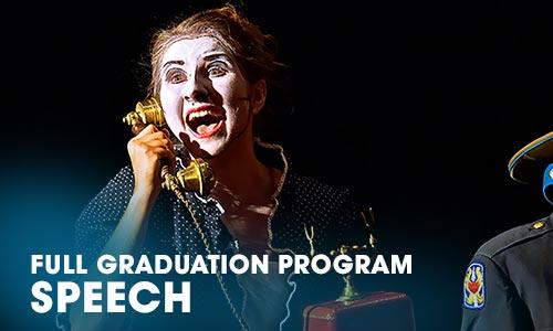 Full Graduation Program speech Artrium School for the Dramatic Arts