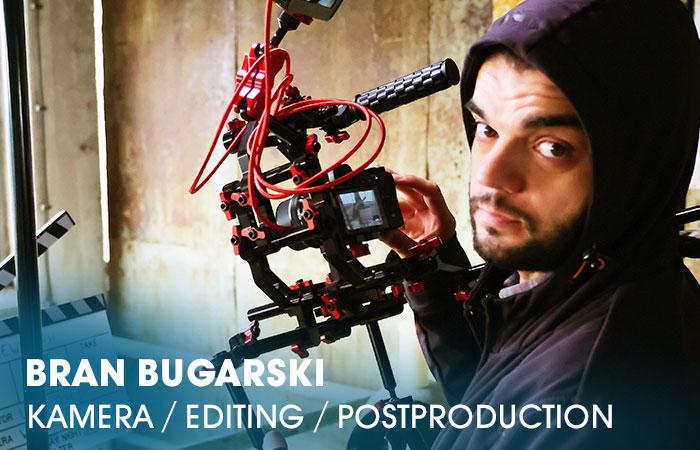 Bran Bugarski ist an der Artrium Schauspielschule Hamburg für Film/Demobänder ( Kamera / Editing / Postproduction ) verantwortlich