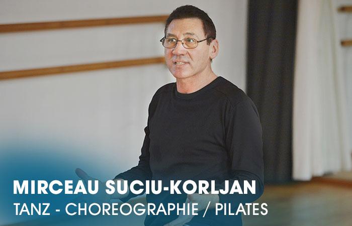 Der Dozent Mirceau Suciu-Korljan lehrt an der Artrium Schauspielschule Hamburg das Fach Tanz - Choreographie / Pilates